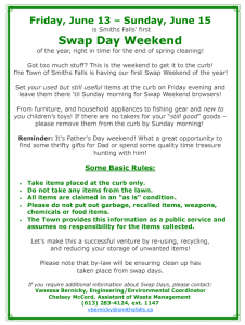 Swap weekend