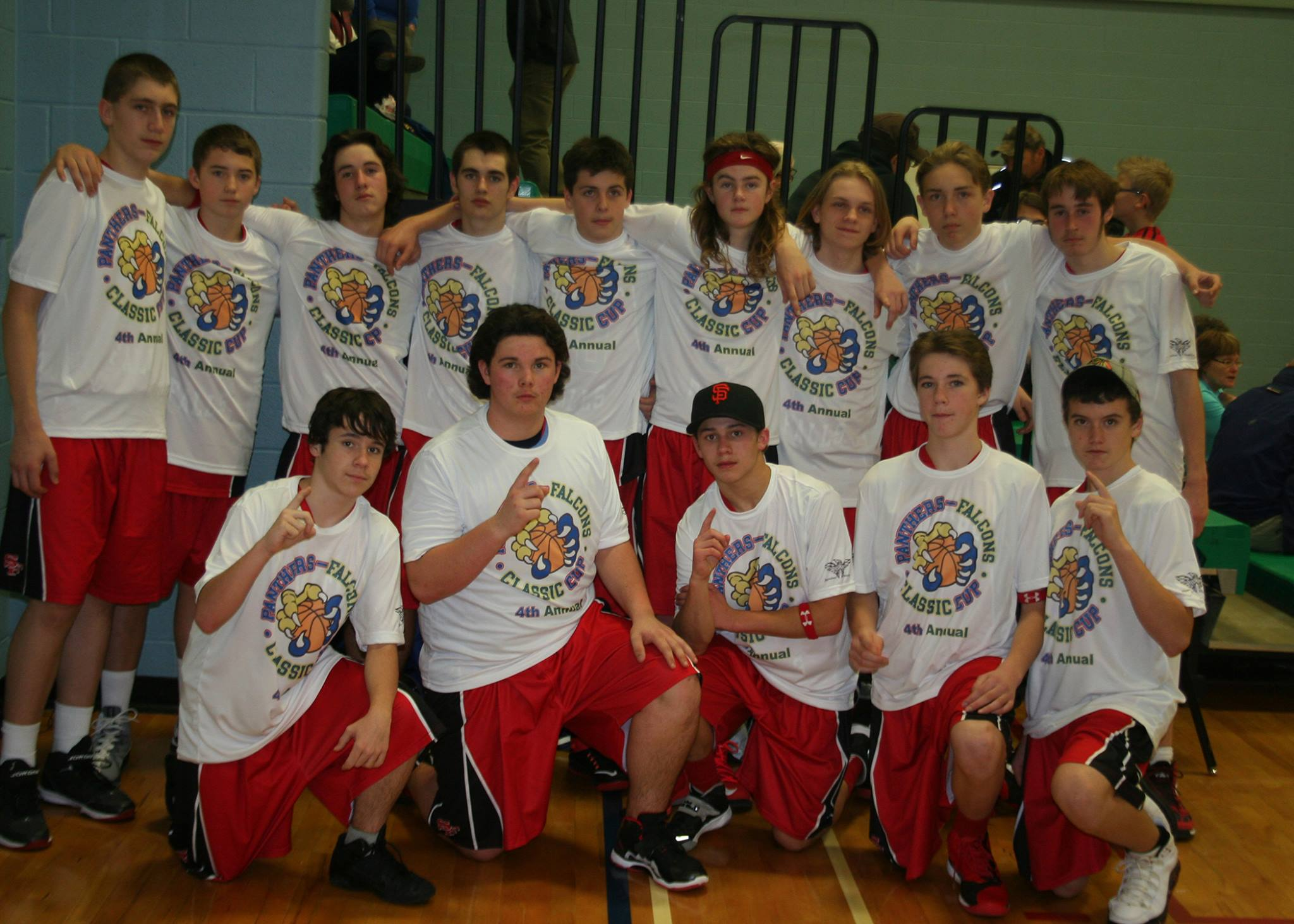The Junior Boys after Defeating Holy Trinity in Panthers-Falcons Tournament Championship