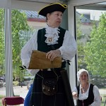 Overall winner of the 2016 Ontario Guild of Town Crier Championships was Andrew Welch of Caledon and Erin, seen here giving his final cry on Sunday.